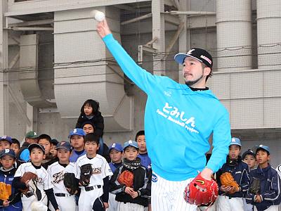 教えて!石川先輩 富山でロッテ選手が野球教室