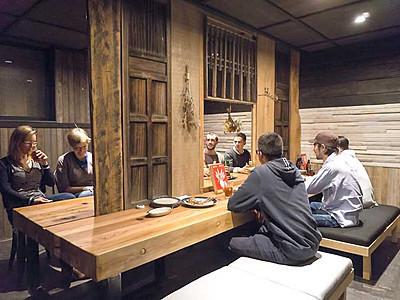 湯田中温泉街、夜は日本酒を 冬季限定バー営業開始