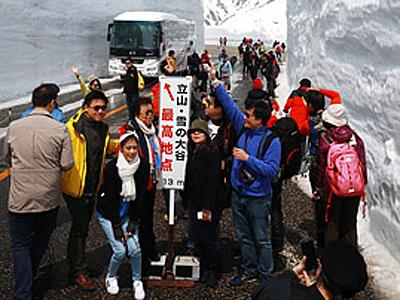 立山黒部アルペンルート全線開通は4月15日