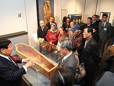 黄金のファラオと大ピラミッド展開幕 富山県民会館