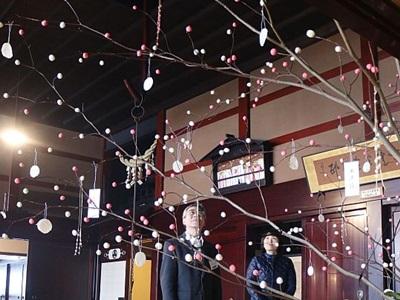 関川・渡辺邸 小正月飾り豊作を願う