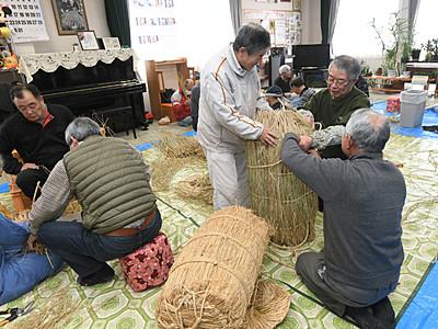 まつもと歌舞伎、勘九郎さん息子祝う米俵 2月の初舞台で