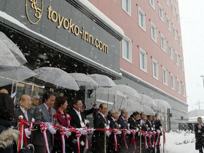 新高岡駅前に初のホテル 駅利用者増に期待