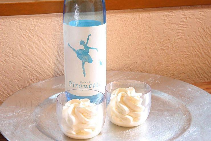 限定酒の酒かすを原料に使ったスイーツ「ラ・ピルエット」(酒らぼ提供写真)