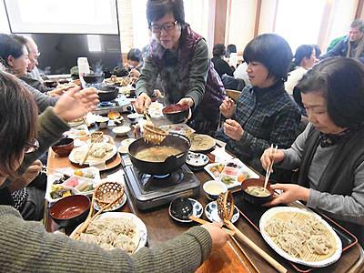 「とうじそば」で温まって 松本・奈川の3店で「まつり」