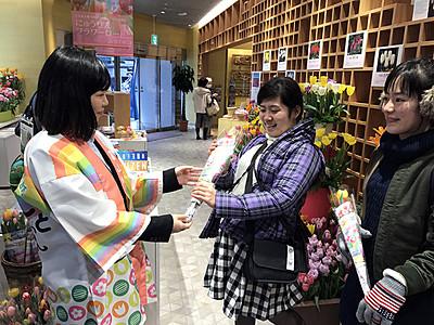 東京で「にゅうぜんフラワーロード」をPR