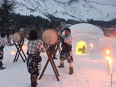 雪国らしさ堪能を 南魚沼でかまくら祭り