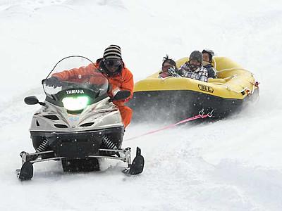 雪上ラフティング、チョコツリーハウス 復興へ、御嶽山麓スキー場