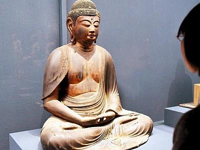 成願寺の阿弥陀像初公開 定印が特徴、県立若狭歴史博物館