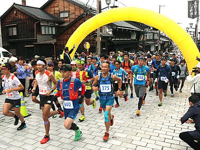 10月に「五箇山・道宗道トレイルラン」