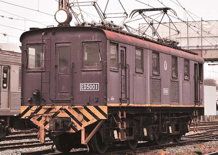 電気機関車ED5001形(長野電鉄提供)
