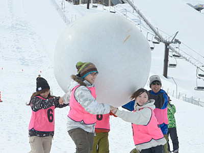 白馬ジャンプ競技場で「おとなの雪上運動会」