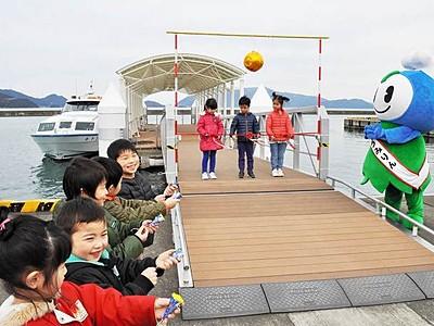 うみんぴあの観光船が運航 1日4便11月末まで、おおい