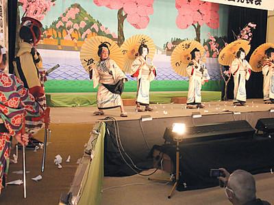 「大鹿歌舞伎」地元児童が熱演 成果発表で手応え