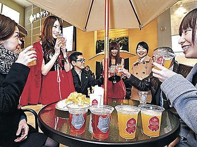 「片町ビール」で乾杯 金沢で完成祝う、商店街振興組合