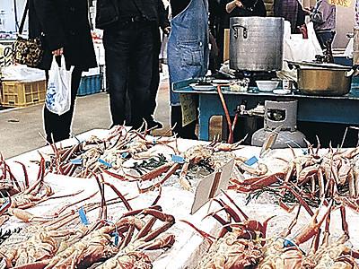 18周年祭、魚介類ずらり 金沢港いきいき魚市