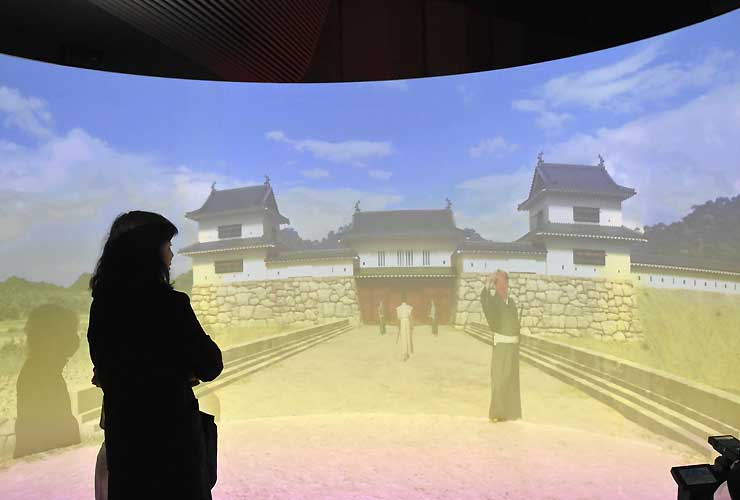 公開された400年前の上田城の再現VR