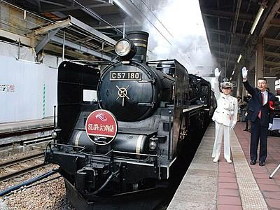 SLばんえつ号始動 新潟駅で今季の出発式