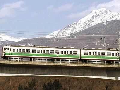 「初代長野色」のしなの鉄道 8日運行、軽井沢で撮影会
