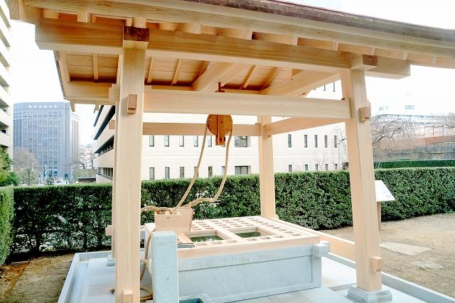 再整備が完了した福井城址の福の井=福井市大手3丁目
