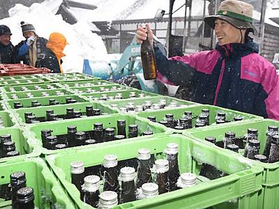 「良い辛さ」雪中酒、近年で一番 戸隠神社中社で蔵開き
