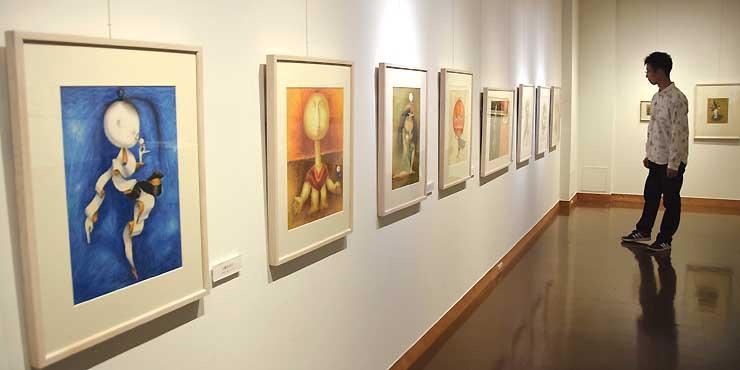 子どもに人気の「おばけ」シリーズ全10点も並ぶイルフ童画館の「武井武雄展」