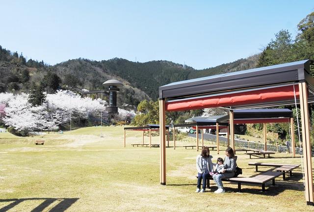 あずまやが設置されるなどリニューアルした「きのこの森」=福井県おおい町鹿野
