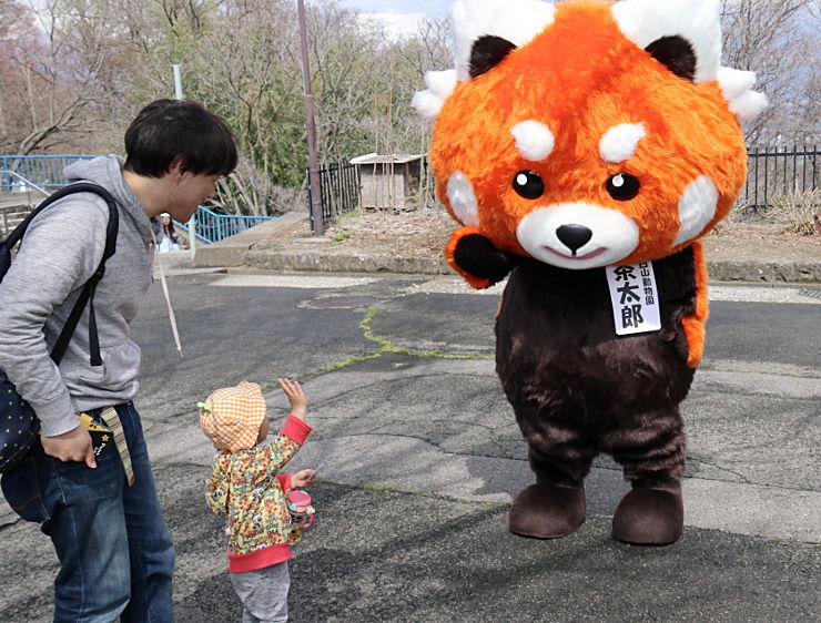 「動物園まつり」に合わせてお披露目された2代目の「茶太郎」