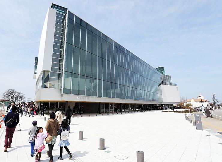 国際北陸工芸サミットのメイン会場となる富山県美術館。8月に全面開館する=富山市木場町