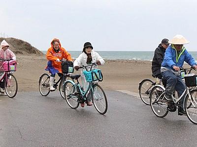 坂道スイスイ角田をぐるり 電動サイクルで自然満喫 西蒲