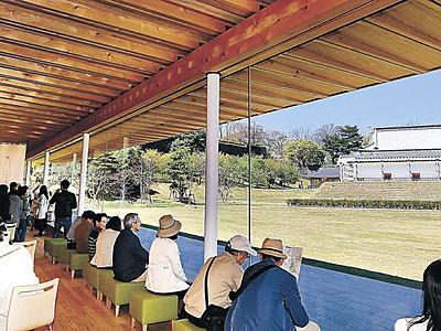 壮観金沢城ゆったり 鶴の丸休憩館オープン
