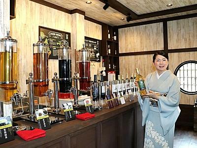 新潟の魅力的な飲み物試飲できる店 月岡温泉街に開店