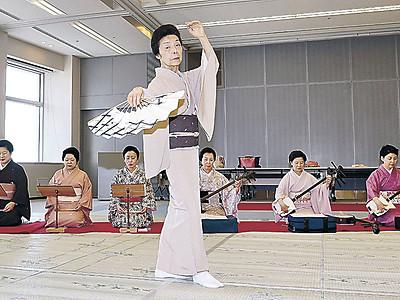指先まで振り仕上げる あす金沢で北國邦楽舞踊特選会
