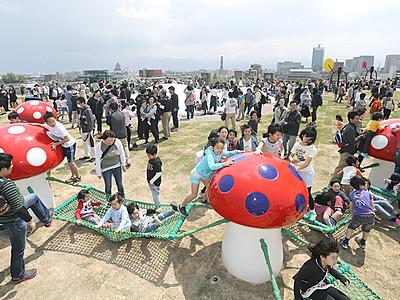 屋上庭園オープン 富山県美術館