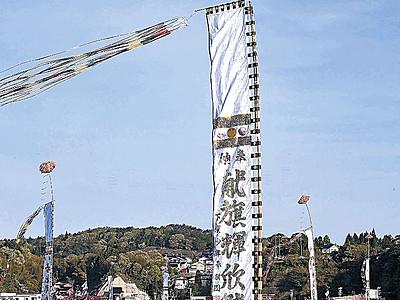 能登町で「小木とも旗祭り」 伝馬船巡り大漁、安全祈る