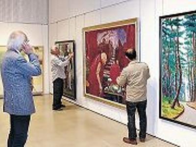 美の祭典、準備整う 小松美術展、10日開幕