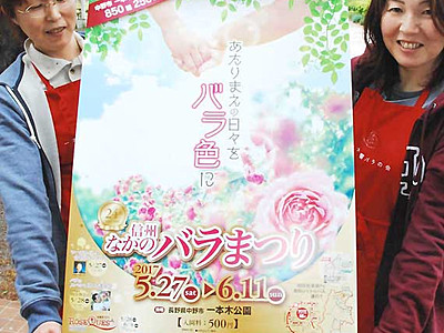 バラ、世代超え楽しんで 中野「まつり」27日開幕