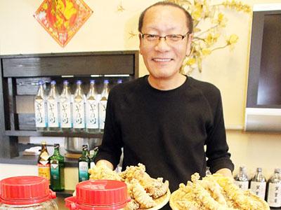 ツルニンジンの味アピール 上市の韓国料理店メニュー化