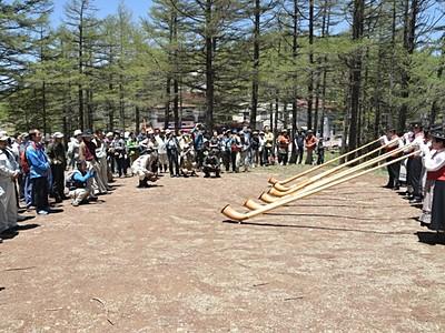 安全祈り 入笠山で開山祭