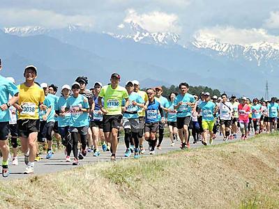 安曇野満喫5800人 ハーフマラソン