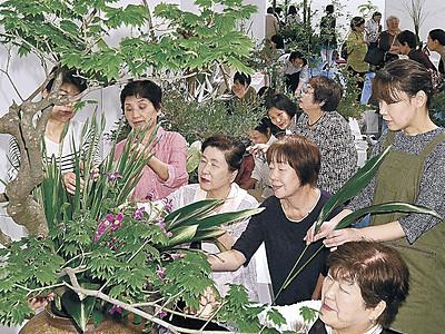 生命力あふれる美描く 総合花展金沢展、6日開幕