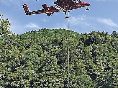 夏山開きへ準備進む 白山 ヘリで物資空輸