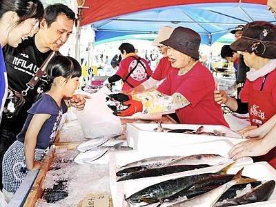 越廼の新鮮な海鮮買いに来て 月2回直売、加工品も低価格