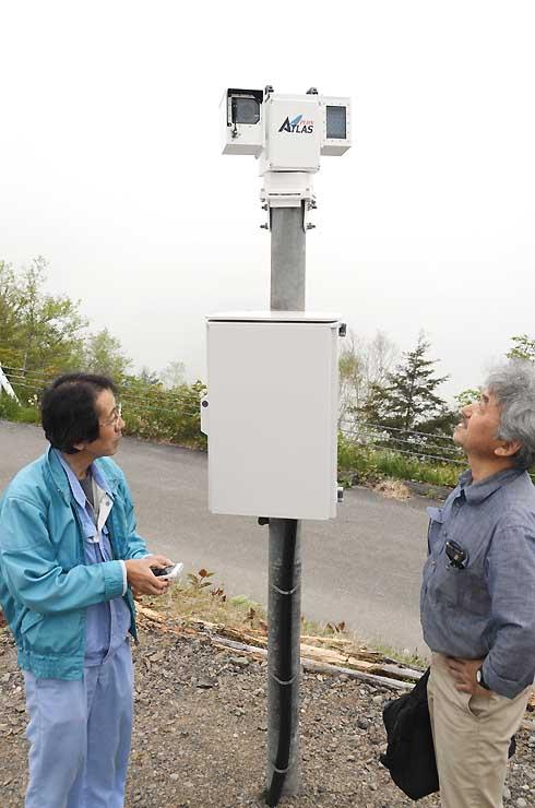 しらびそ高原に設置した高感度カメラシステム「ATLAS」