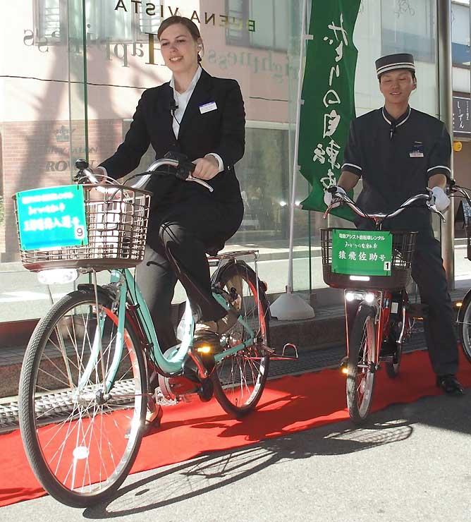 ホテルブエナビスタとホテル翔峰で貸し出す電動アシスト自転車