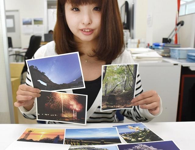 海や山の絶景を集めたポストカード=福井県越前町厨の同町観光連盟