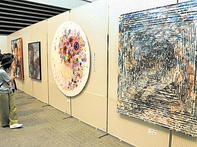 書や絵画、敦賀市美術展が開幕 7部門の285点を展示