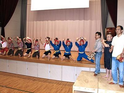 「角兵衛獅子の舞」披露へ練習に熱 新潟南区で月潟まつり