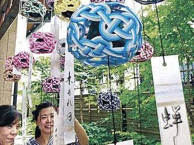 水引風鈴、涼しげ 金沢の商店、観光客に人気