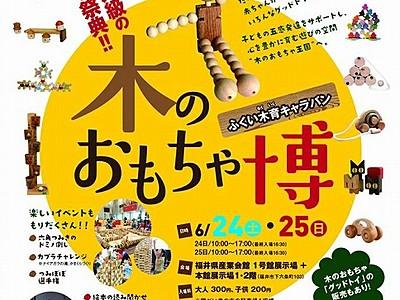 国内外の木製玩具が大集結 24、25日福井県産業会館